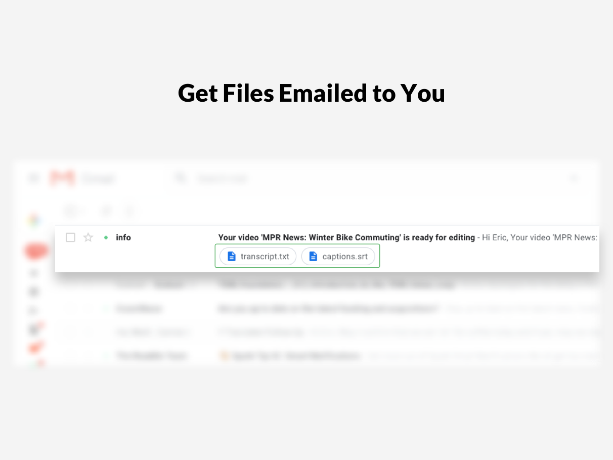 Get Files Emailed to You