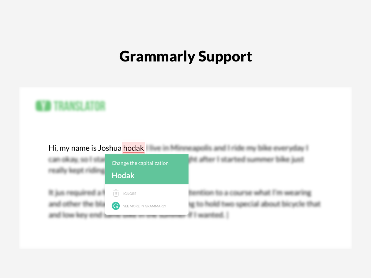 Grammarly support